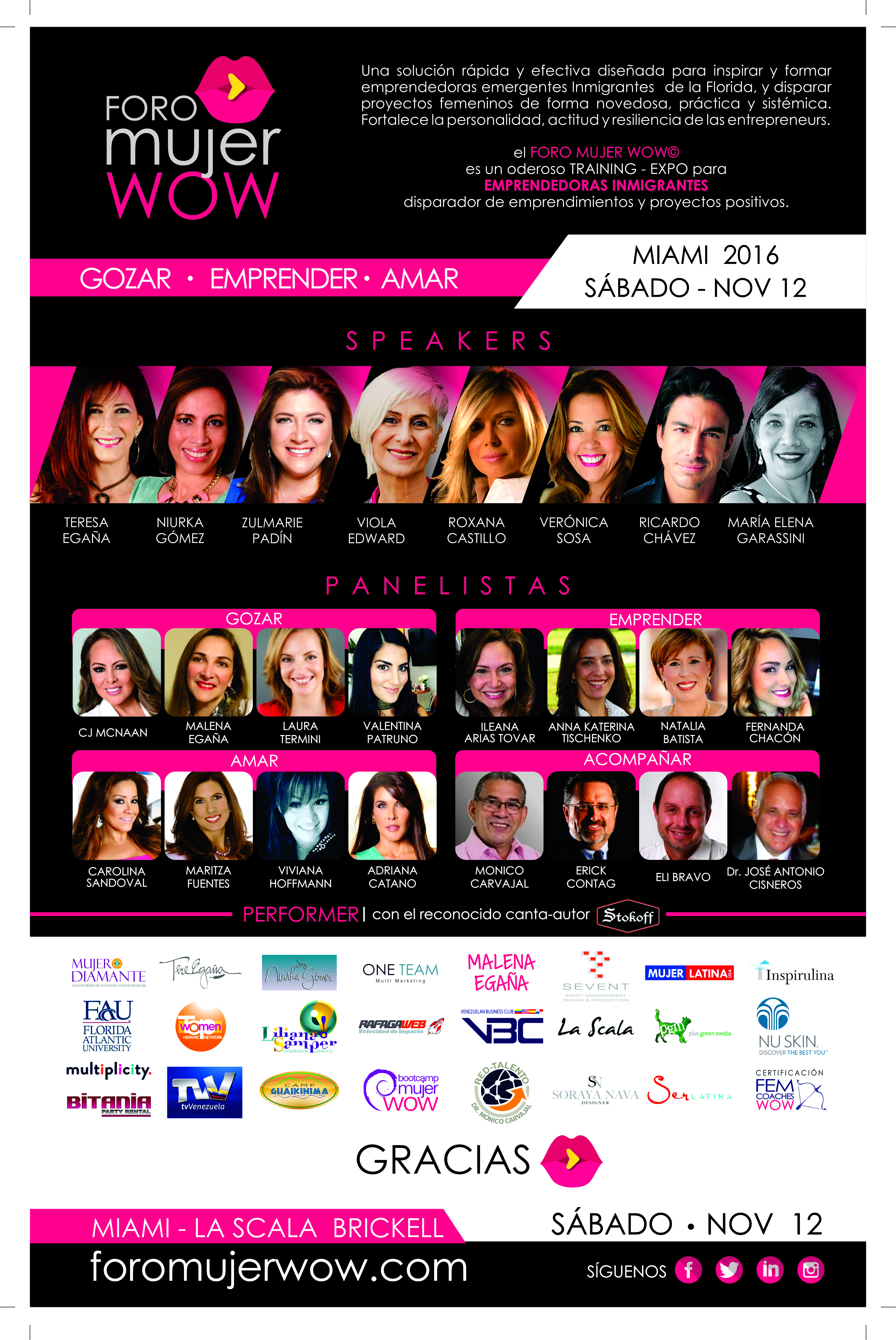 SPEAKERS FORO MUJER WOW 2016