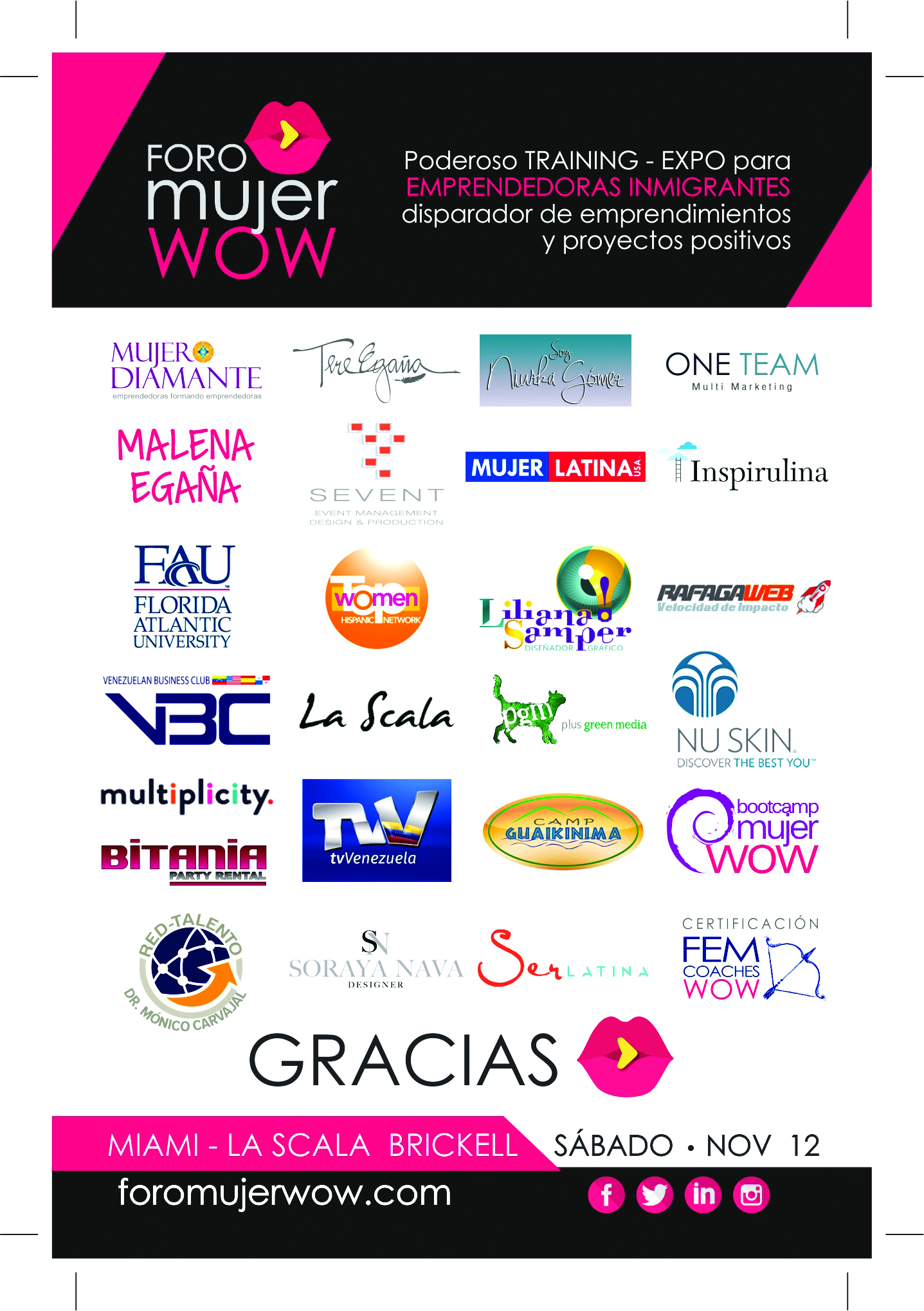 COLABORADORES FORO MUJER WOW 2016